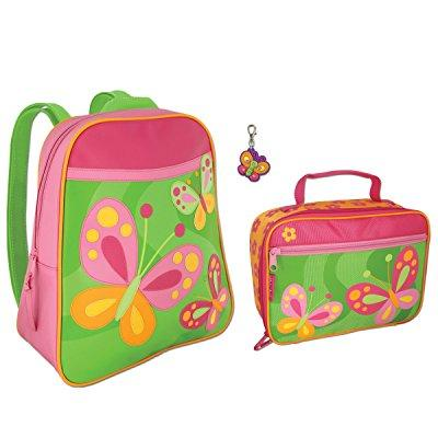 Stephen Joseph girls butterfly backpack and lunch box wit...