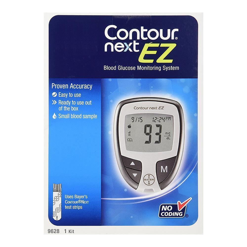 Bayer Contour Next EZ Blood Glucose Monitoring System 5-Second 9628 Model