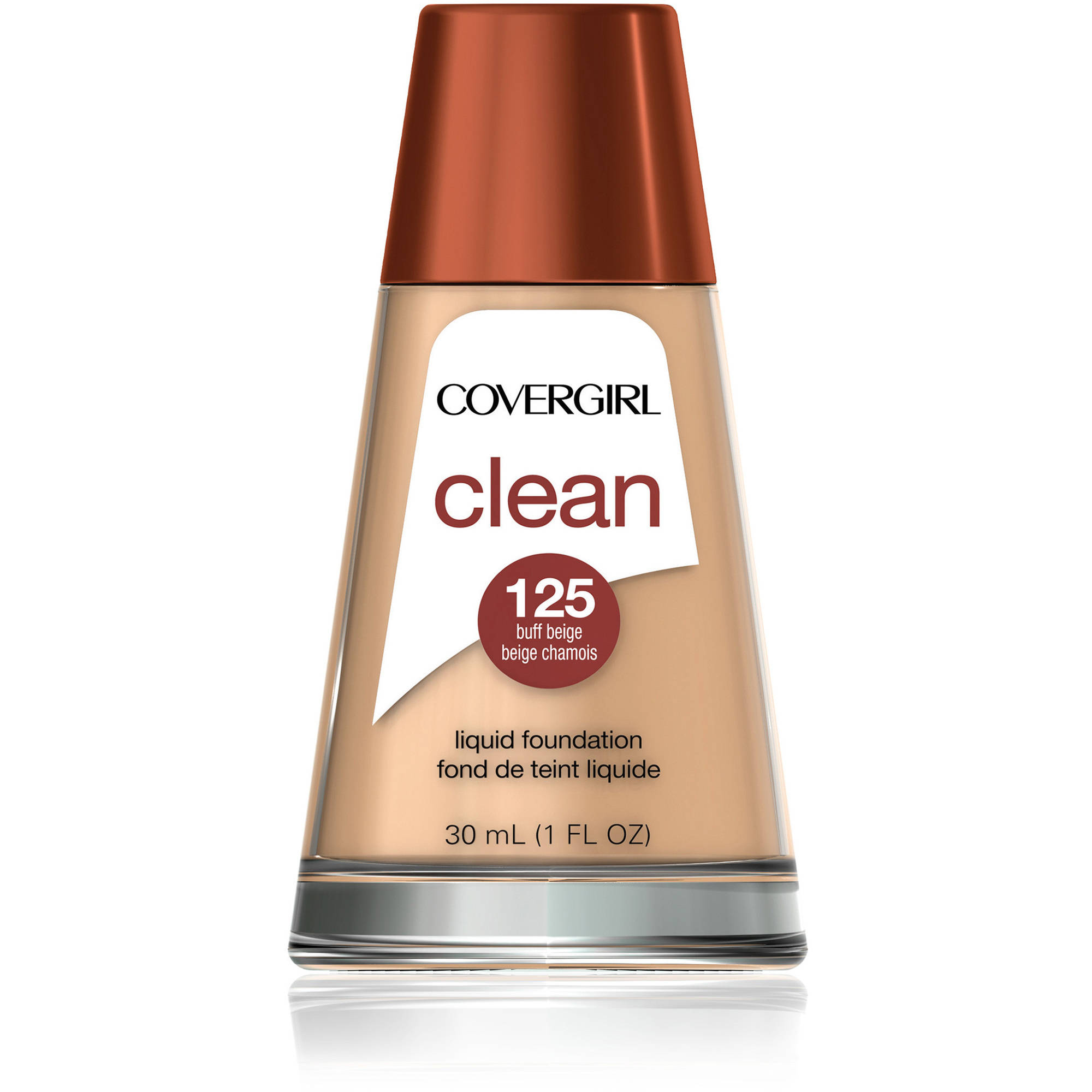 COVERGIRL Clean Liquid Foundation, 125 Buff Beige, 1 fl oz
