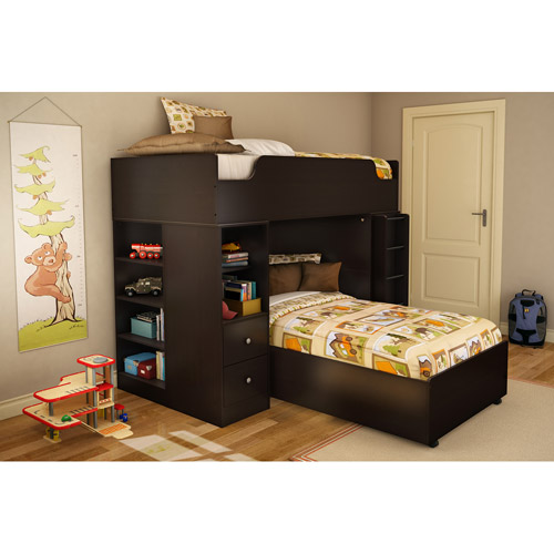 South Shore Logik Twin Loft Bed, Chocolate
