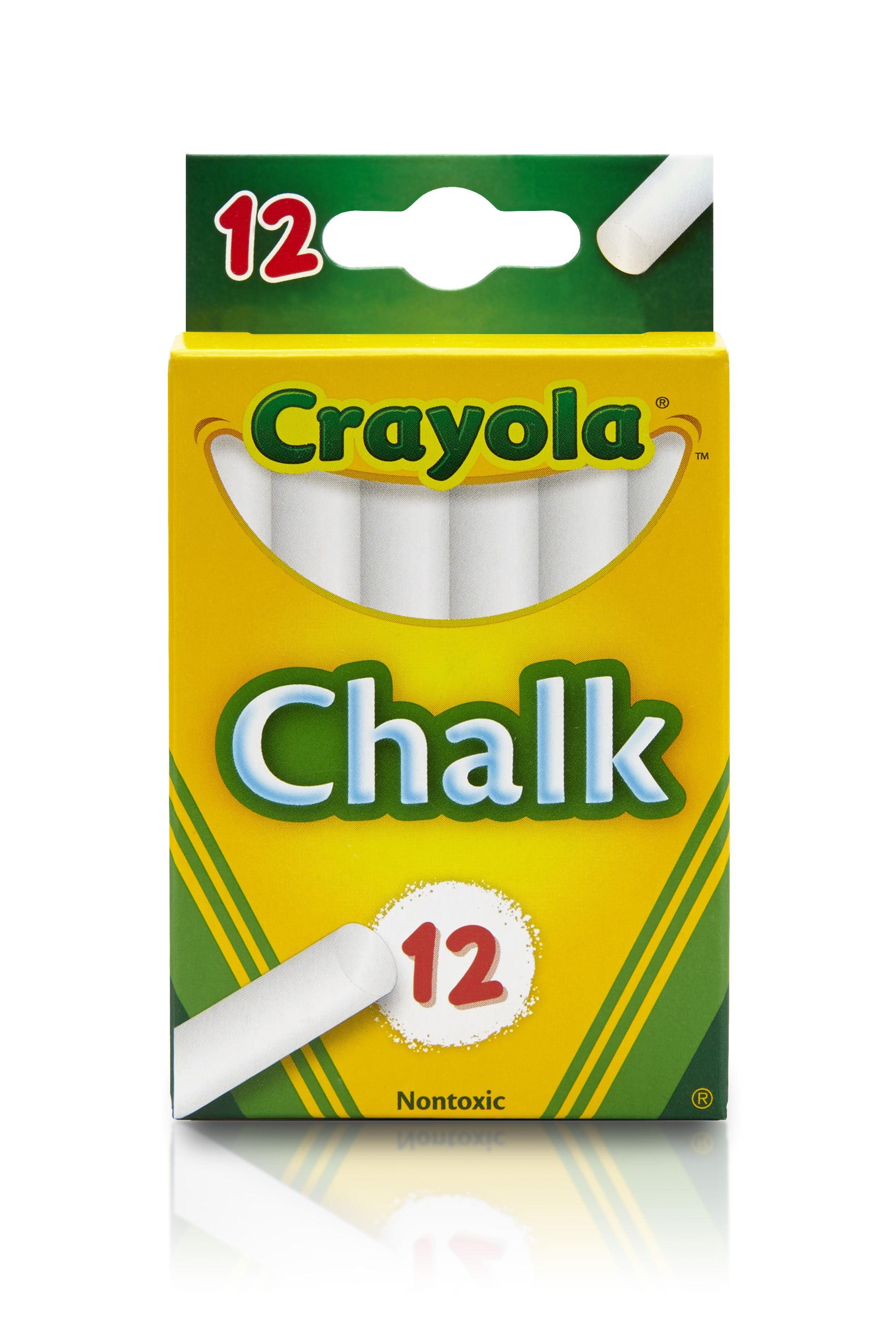 Crayola White Chalkboard Chalk, 12 count, School Supplies by Crayola