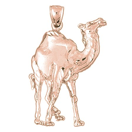 14K Rose Gold Camel Pendant - 41