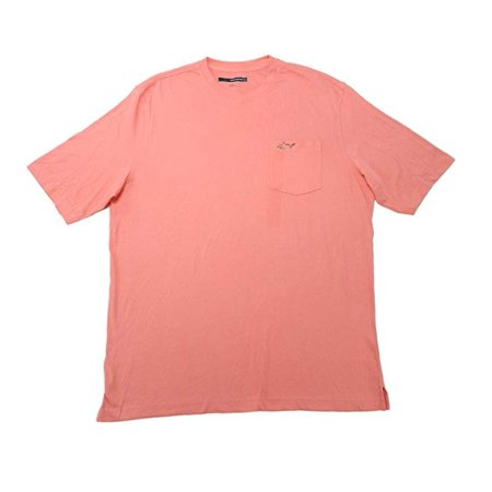 GREG NORMAN MEN'S LUX SHARK POCKET T-SHIRT IN CORAL, XXL (Shark Xxl)