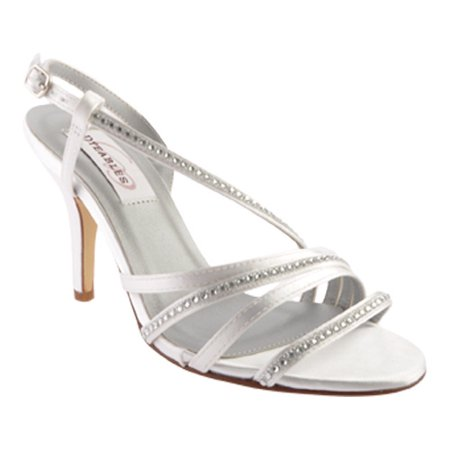 Dyeables Women's Jo Platform Sandal Dyeable Satin Wedding Platform Shoes