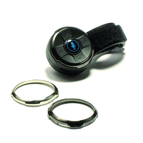 Isimple Isbc01 Bluclik Bluetooth[r] Remote Contol With Steering Wheel & Dash Mounts