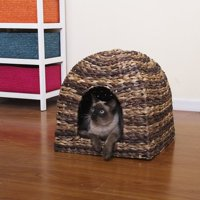 Product Image Petpals Group Banana Cabana Woven Water Hyacinth Cat House With Lounge E Pillow