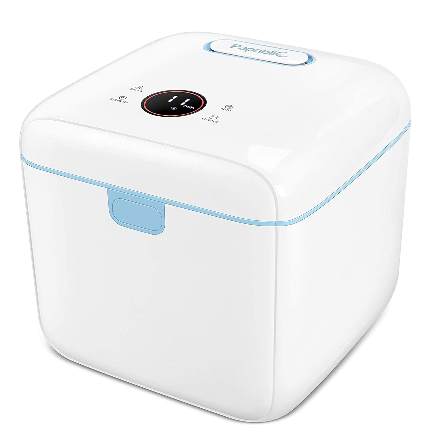 Masks /& PPE Keys Easy Touch Panel Control Sterilizes in Minutes Toys and More Cell Phones No Cleaning Clean and Sanitize Baby Bottles Large UV Sterilizer Box UV-C Light Sanitizer