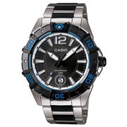 Casio MTD1070D-1A1 Men's Stainless Steel Black Dial 100M Sports Watch