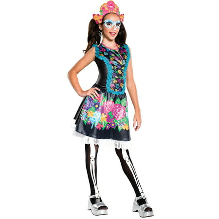 Monster High Skelita Calaveras Costume for Kids - Skelita Costume