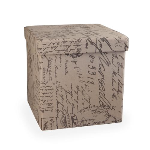 Danya B. Folding Storage Ottoman - Canvas Print