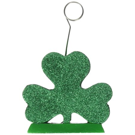 Glitter Shamrocks (Glittered Shamrock Photo/Balloon Holder Party Accessory (1 count) (1/Pkg), This item is a great value! By)