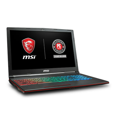 "MSI GP63 Leopard-077 15.6"" Performance Gaming Laptop i7-8750H (6 cores), NVIDIA GeForce GTX 1060 6G, 256GB SSD + 1TB HDD, 16GB RAM, WIN 10, VR READY, RGB KB, GP63LEOPARD077"