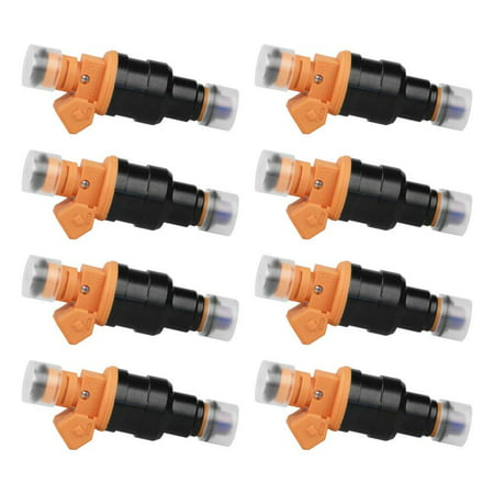 Ford Mustang Part Number - Fuel Injector Set of 8 - Replaces part# 280150943, 0280150939, 0280150909 - Fits Ford E250, F150, F250, F350, E350, Mustang, Lincoln & Mercury 4.6L, 5.0L, 5.4L, 5.8L Vehicles - Year 1992 - 2004 & More