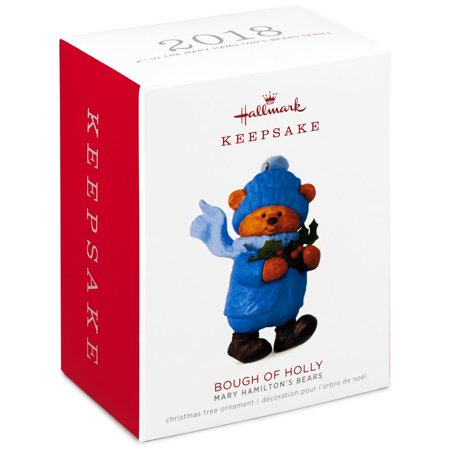 Hallmark Keepsake 2018 Mary Hamilton's Bears Bough of Holly - Hallmark Bear