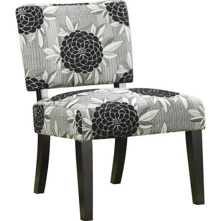 Coaster Company Accent Chair White Grey Black Fl Fabric