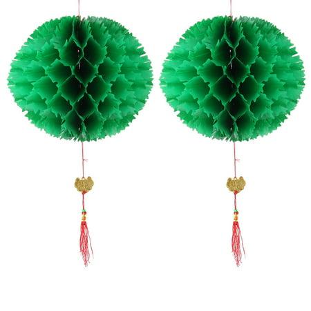 2pcs Handmade String Hanging Ball Lamp Light DIY Lantern Decor (Light Up Hanging Balls)