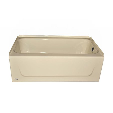 kona 4 1 2 ft left hand drain soaking tub in bone