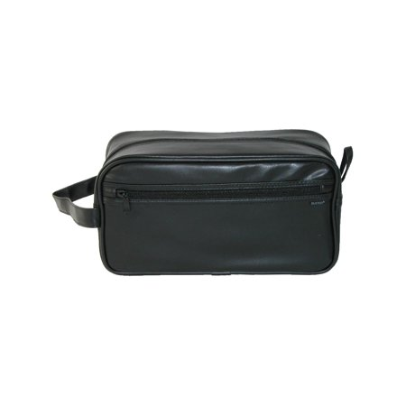 20ae90d3d483 Size one size Men's PVC Travel Toiletry Bag, Black