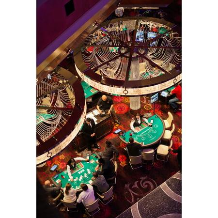 Tourists at blackjack tables in casino Cosmopolitan of Las Vegas CityCenter Las Vegas Las Vegas Strip Las Vegas Nevada USA Poster