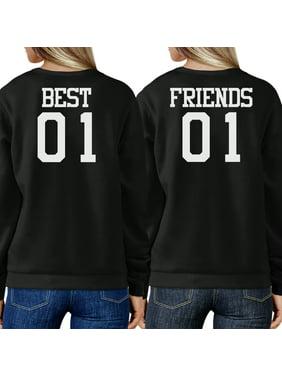 Best 01 And Friend 01 BFF Sweatshirts Friendship Matching Fleece