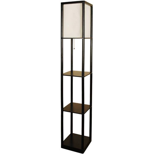 Mainstays Shelf Floor Lamp With Wood Shelves