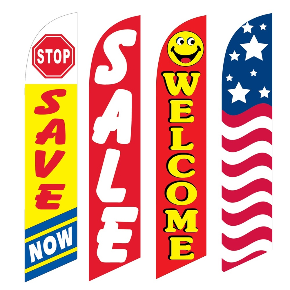 4 Advertising Swooper Flags Save Now Sale Welcome USA
