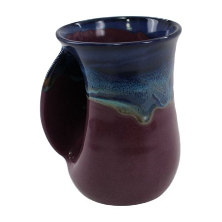 Clay In Motion Handwarmer Mug   Purple Passion Left Handed