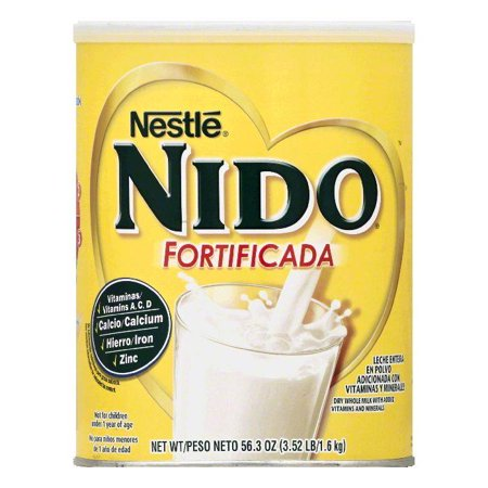 Nestle Nido Fortificada Whole Dry Milk, 56.3 OZ (Pack of 6) ()