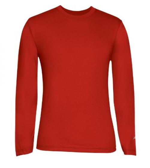 Terramar Men's Drirelease Long Sleeve Crew T-Shirt (XX-Large, Russett)