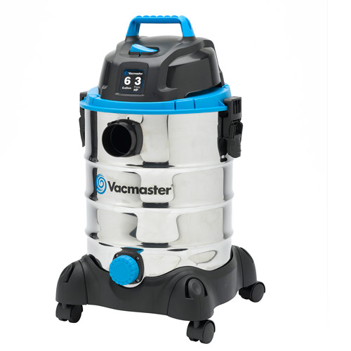 Vacmaster 6-Gallon 3.0-Peak HP Wet/Dry Vac, Stainless Steel, VQ607SFD