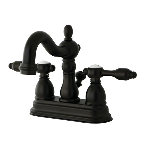Kingston Brass Tudor Double Handle Centerset Bathroom Faucet with ABS Pop-Up