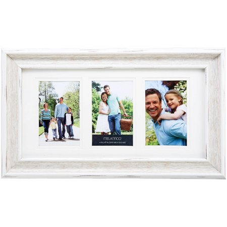 Melannco Natural Wood Finish 3-Opening Photo Collage, Picture Frame ...