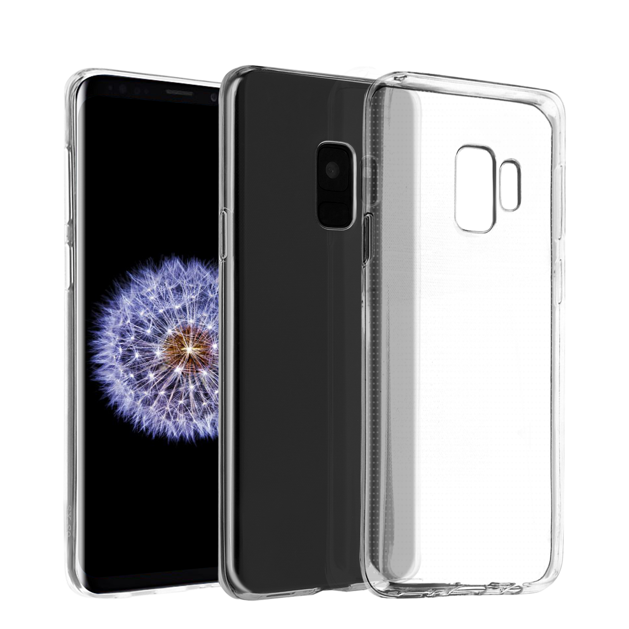 Galaxy S9 Case, Ultra Slim Silicone Protector Cover, Clear