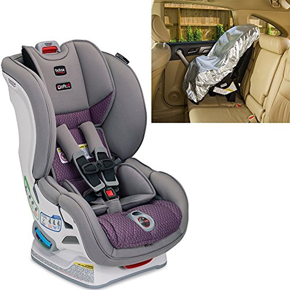 Britax USA Marathon ClickTight Convertible Car Seat With Sunshade, Twilight