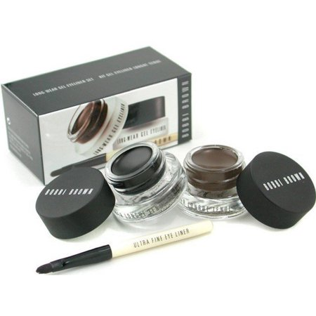 Bobbi Brown Gel Eyeliner - Bobbi Brown Long-Wear Gel Eyeliner Set 3 Piece Set, Black & Sepia Ink 1 ea