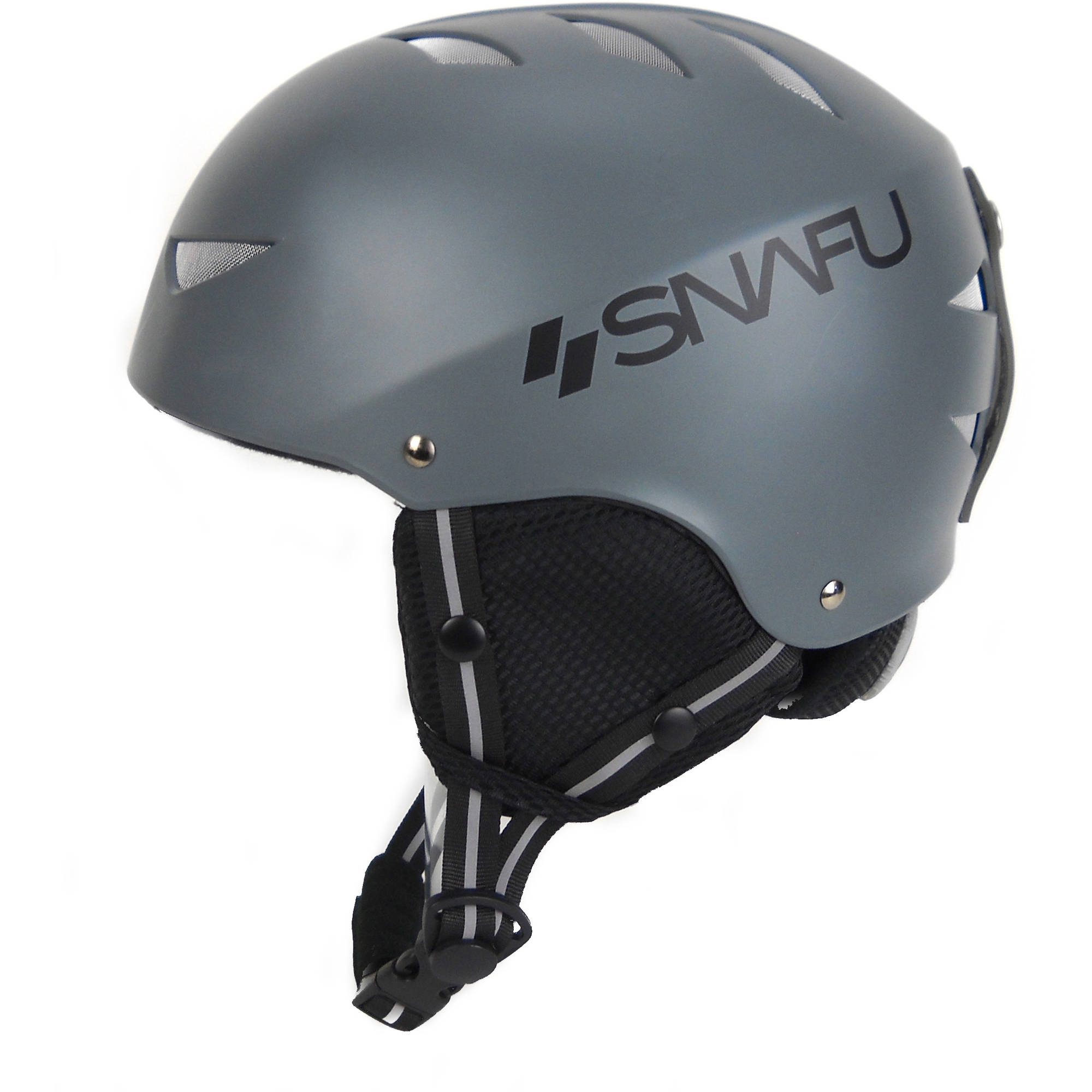 SNAFU Winter Sports Helmet, Matte Gray, L by