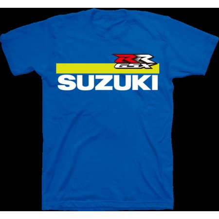Suzuki Blue Rear Tire (Suzuki GSX-RR MotoGP Short Sleeve T-Shirt Blue)