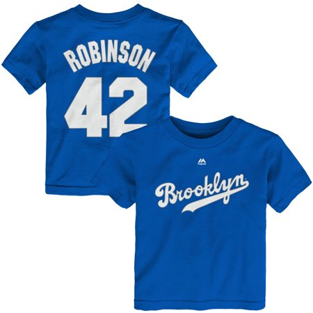 Jackie Robinson Brooklyn Dodgers Majestic Toddler Player Name & Number T-Shirt - Royal](Jackie Moon Jersey)