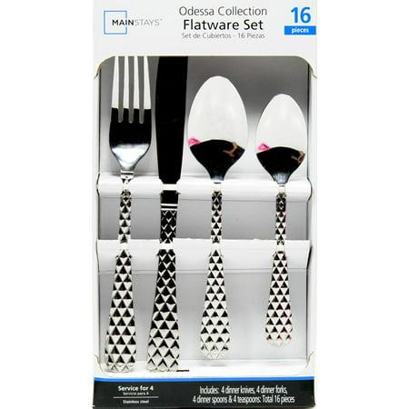 Mainstays odessa 16 piece flatware set best utensils - Mainstays flatware ...