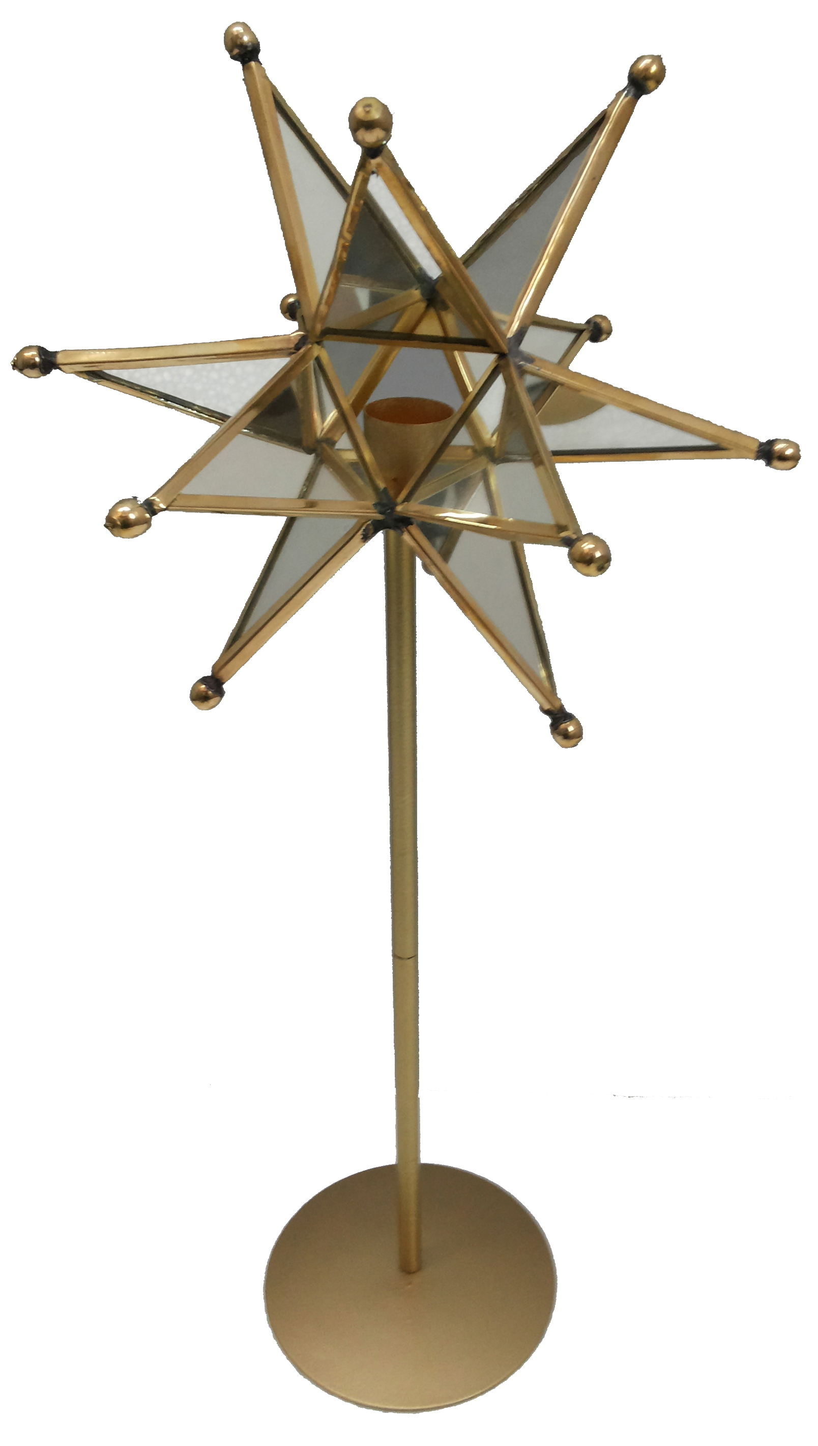 A&B Home Star Candle Holder On Stand, 7 x 4 x 17-Inch by A&B Home