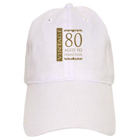 1b0b77f97 CafePress - Fancy Vintage 80Th Birthday - Printed Adjustable Baseball Cap
