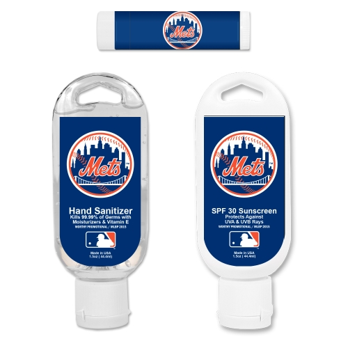 New York Mets Hand Sanitizer, Sunscreen & Lip Balm Game Day Pack - No Size