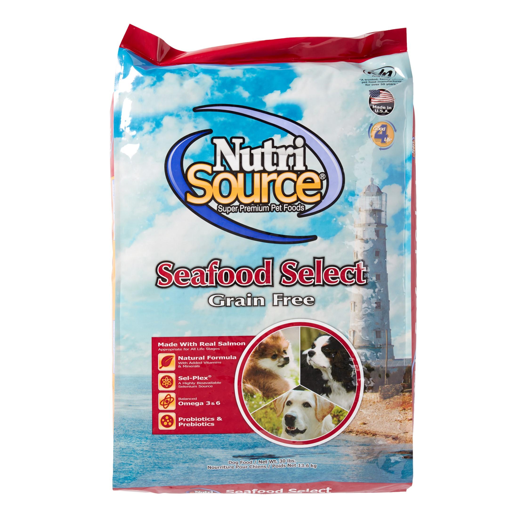 NutriSource Grain-Free Seafood Select Dry Dog Food, 30 lb