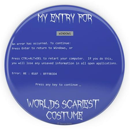 Tenacitee World's Scariest Costume Pinback Button, 2.25