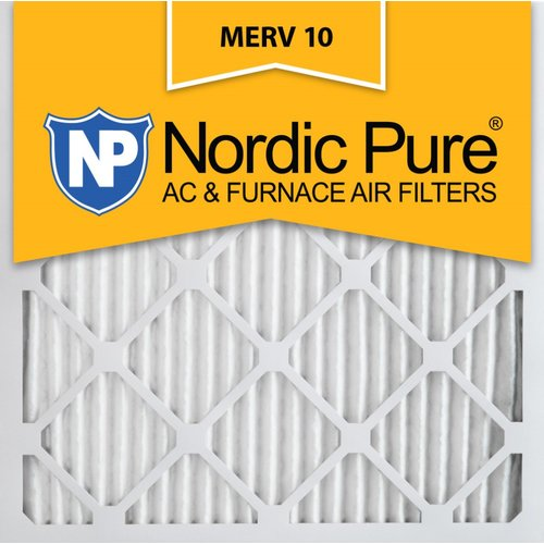 Nordic Pure Merv 10 Pleated Air Conditioner/Furnace Filter (Set of 6)