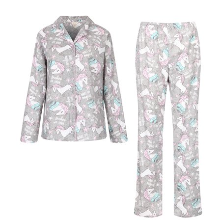 - Richie House Women's Knit Flannel Pajama Sleepwear Set with Pants RHW2843