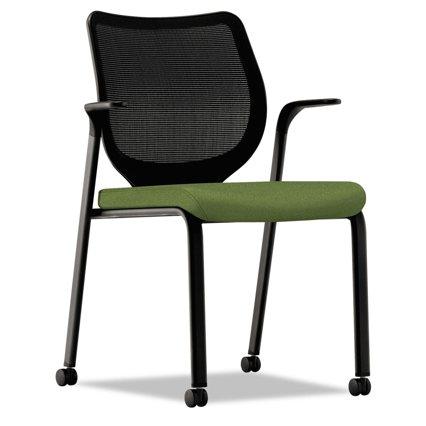 HON Nucleus Series Multipurpose Chair, Black ilira-stretch M4 Back, Clover/Black