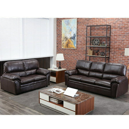 Sofa Sectional Sofa Sofa Set Leather Loveseat Sofa Contemporary Sofa Couch For Living Room Furniture 3 Seat Modern Futon ()