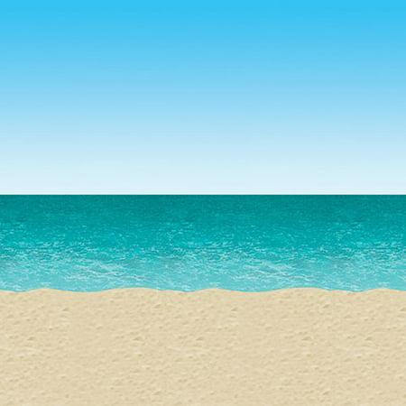 30' Blue Sky & Ocean Beach Backdrop - Beach Backdrop