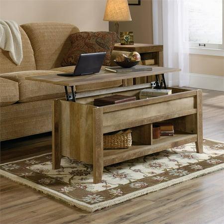 Sauder Dakota P Lift Top Coffee Table Craftsman Oak Finish